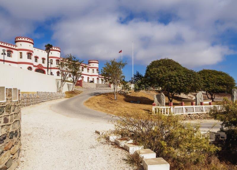La Serena in Chile. Military Building in the Santa Lucia Park, La Serena, Coquimbo Region, Chile stock image