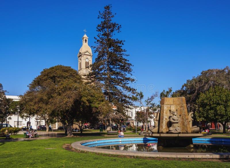 La Serena in Chile. Plaza de Armas, La Serena, Coquimbo Region, Chile stock image