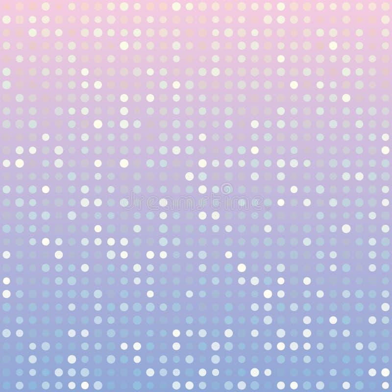 La serenidad azul y el fondo rosado de la pendiente del cuarzo color de rosa de múltiplos puntea ilustración del vector