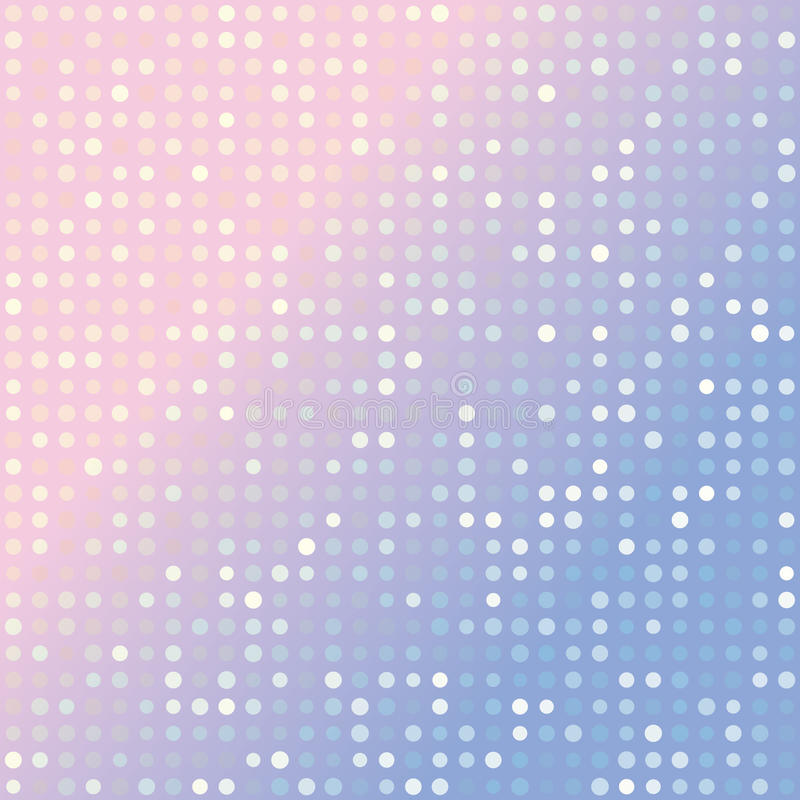 La serenidad azul y el fondo rosado de la pendiente del cuarzo color de rosa de múltiplos puntea libre illustration
