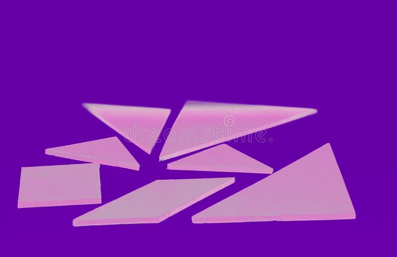 la serie del tangram fotografie stock libere da diritti