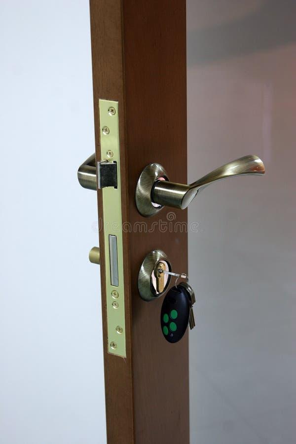 La serratura con i tasti immagine stock