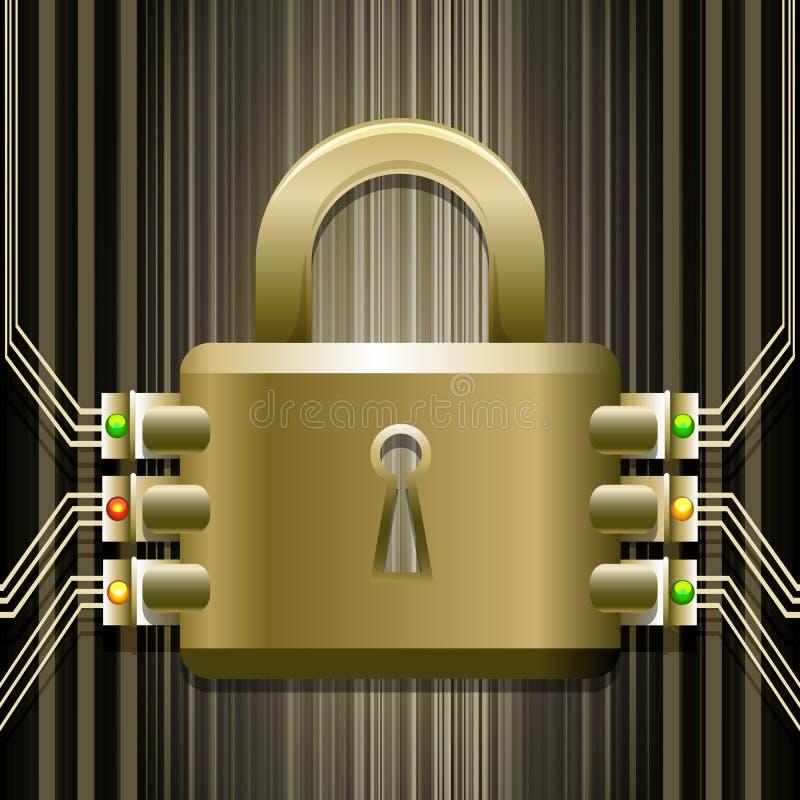 La serratura elettronica illustrazione vettoriale