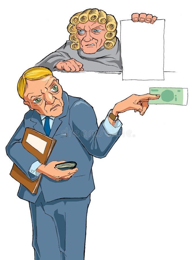 La sesión en los tribunales libre illustration