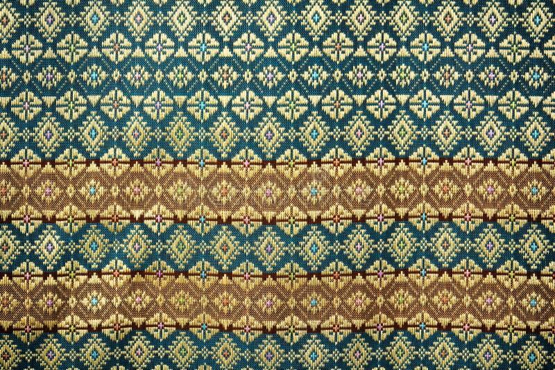 La seta tailandese variopinta handcraft la fine peruviana della superficie della coperta di stile su immagini stock