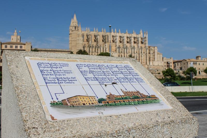 La Seu,马略卡大教堂 免版税库存图片