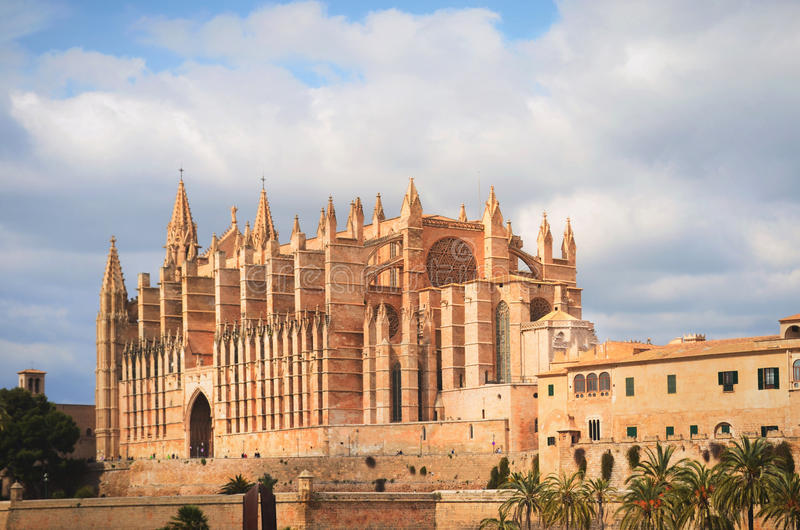 La Seu, Cathedral, Palma de Mallorca stock photos