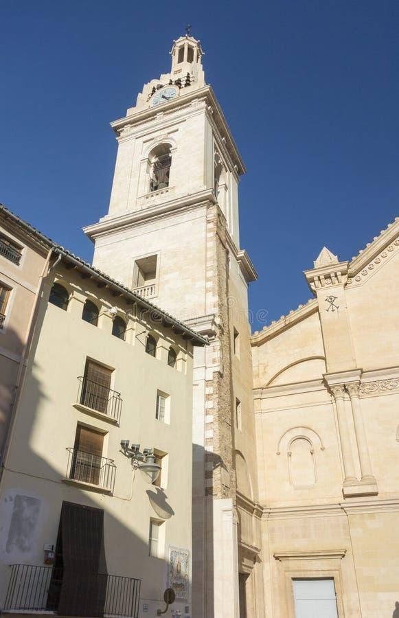 La Seu Cathedral, Xativa, Espanha imagem de stock