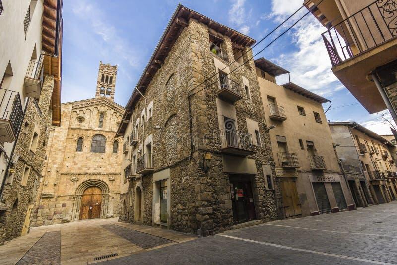 La Seu-d& x27; Urgell, Spanien lizenzfreie stockfotos