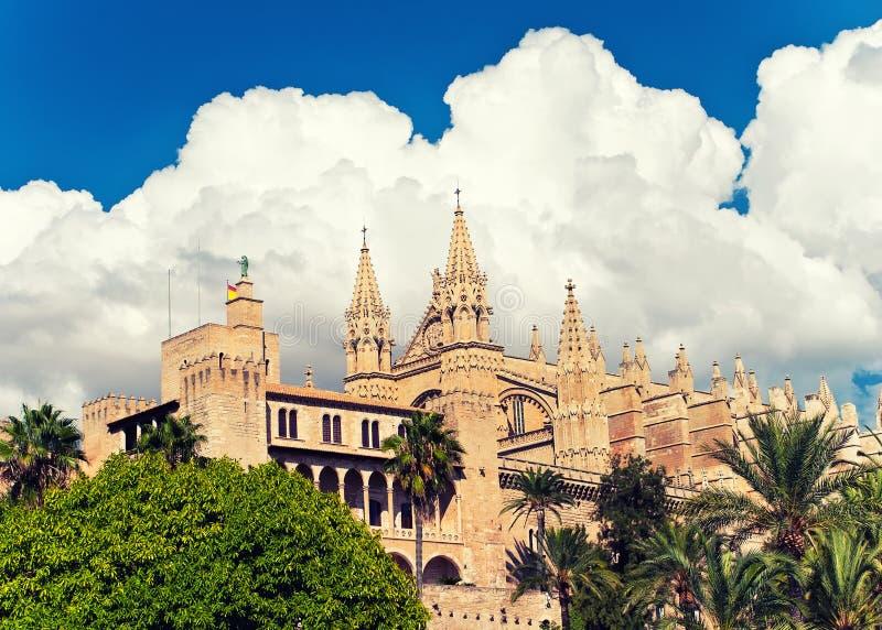 La Seu de la catedral de Palma de Mallorca fotos de archivo