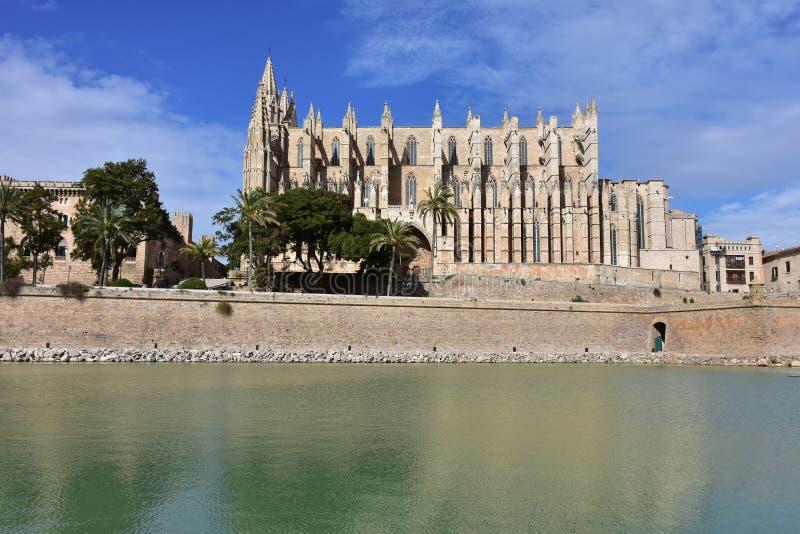 La Seu, den gotiska domkyrkan av Palma de Mallorca, arkivfoto