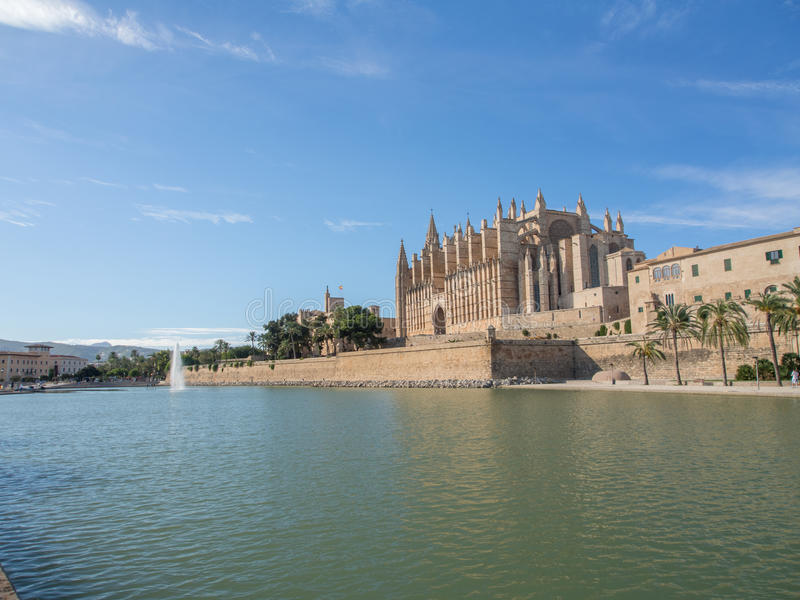 La Seu - domkyrka av Mallorca royaltyfria foton