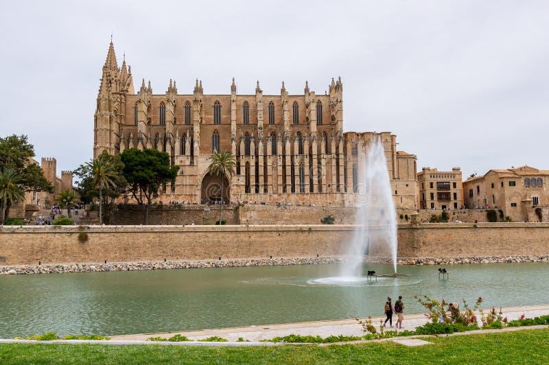 La Seu, domkyrkan av Palma de Mallorca - Balearic Island, Spanien royaltyfria bilder