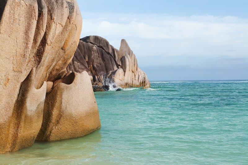 La Seychelles d'île de digue photos stock