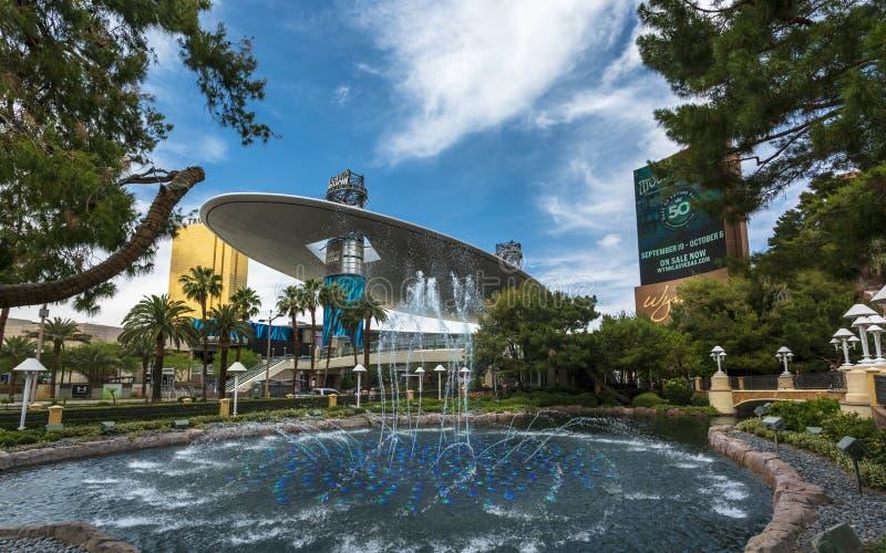 La sfilata di moda, la striscia, Las Vegas Boulevard, Las Vegas, Nevada, U.S.A., Nord America fotografia stock libera da diritti