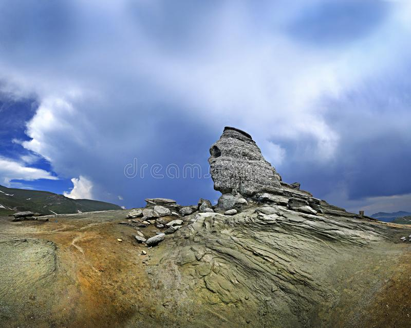 La Sfinge, montagne di Bucegi, Romania fotografia stock