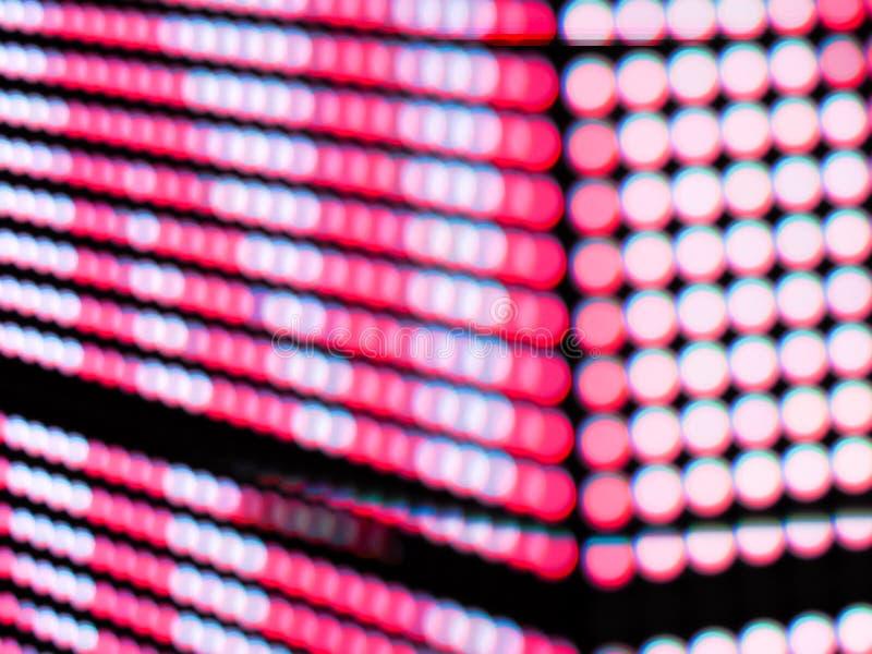 La sfuocatura rosa astratta de di colore messa a fuoco di RGB ha condotto il fondo di schermo fotografia stock libera da diritti