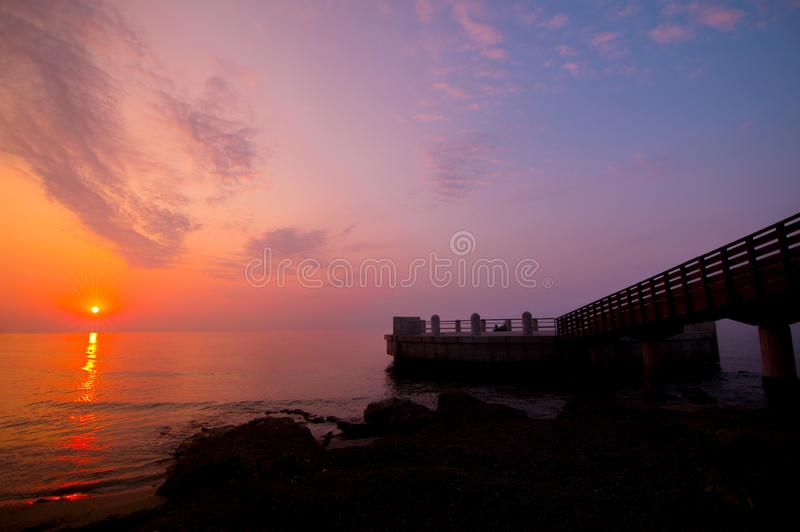 La Sicile, un beau lever de soleil images stock