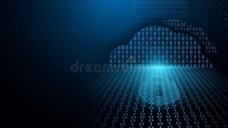 La sicurezza cyber e potrebbe la protezione della rete informatica Tecnologia e concetto cyber futuri del fondo del sistema di si illustrazione vettoriale