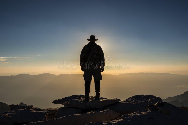 La Sierra Nevada, cumbre del EL Jefe de Mt Whitney fotografía de archivo