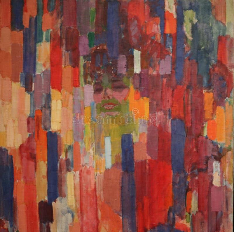 La sig.ra Kupka fra i verticali dall'immagine di Frantisek Kupka Canvas Art Wall fotografia stock