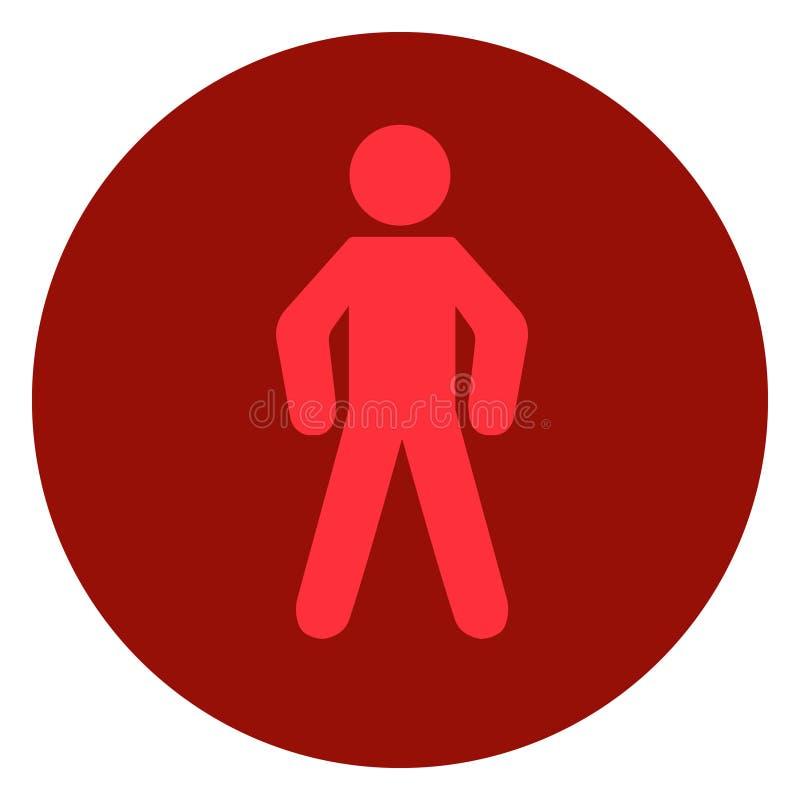 La signalisation feu rouge, signal d'arrêt, sécurité routière illustration stock