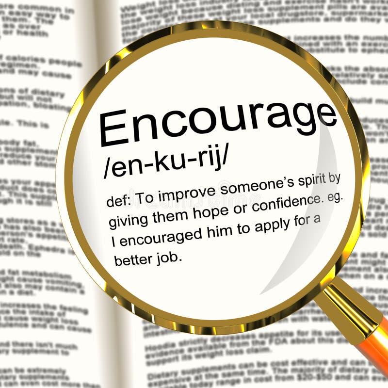 La signification de 'encouragent' illustration libre de droits