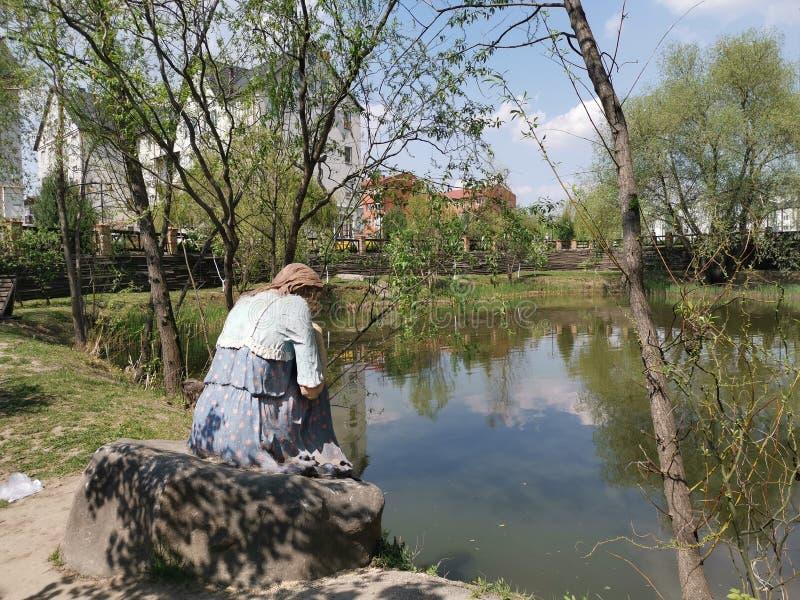 La signora del lago fotografie stock libere da diritti