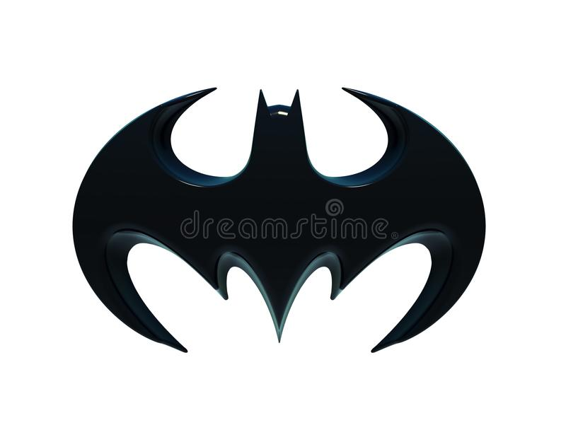La silhouette d'une batte, logo de Batman illustration stock