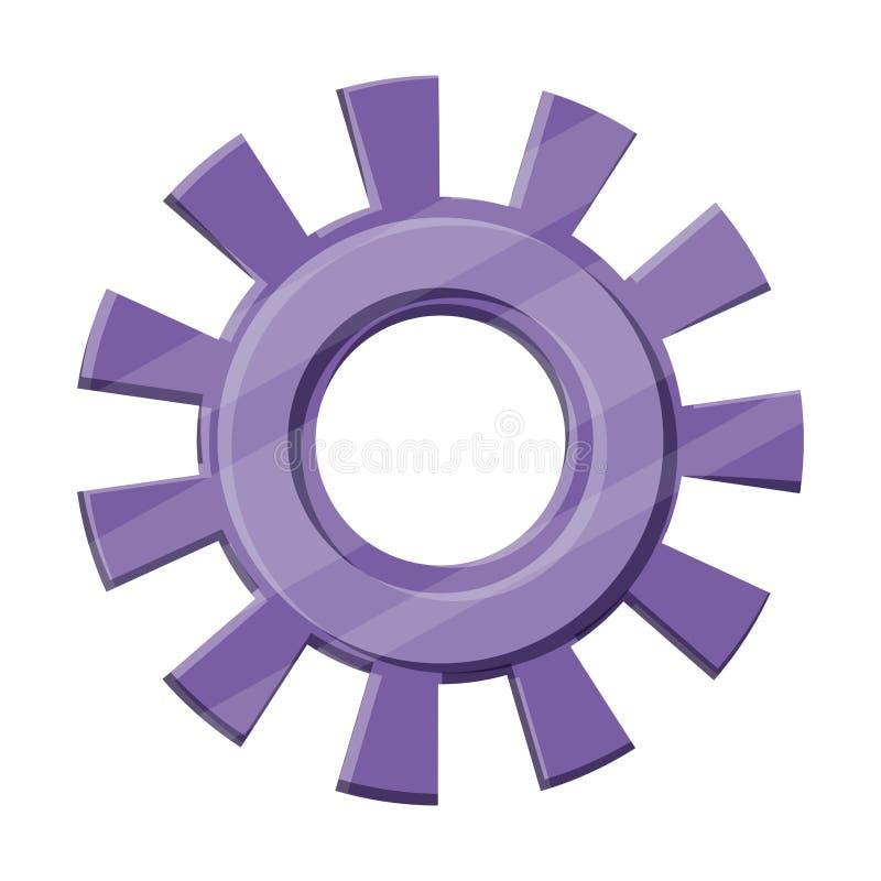 La silhouette de couleur des pignons modèlent un illustration de vecteur