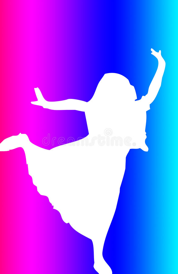 La silhouette du danseur illustration stock