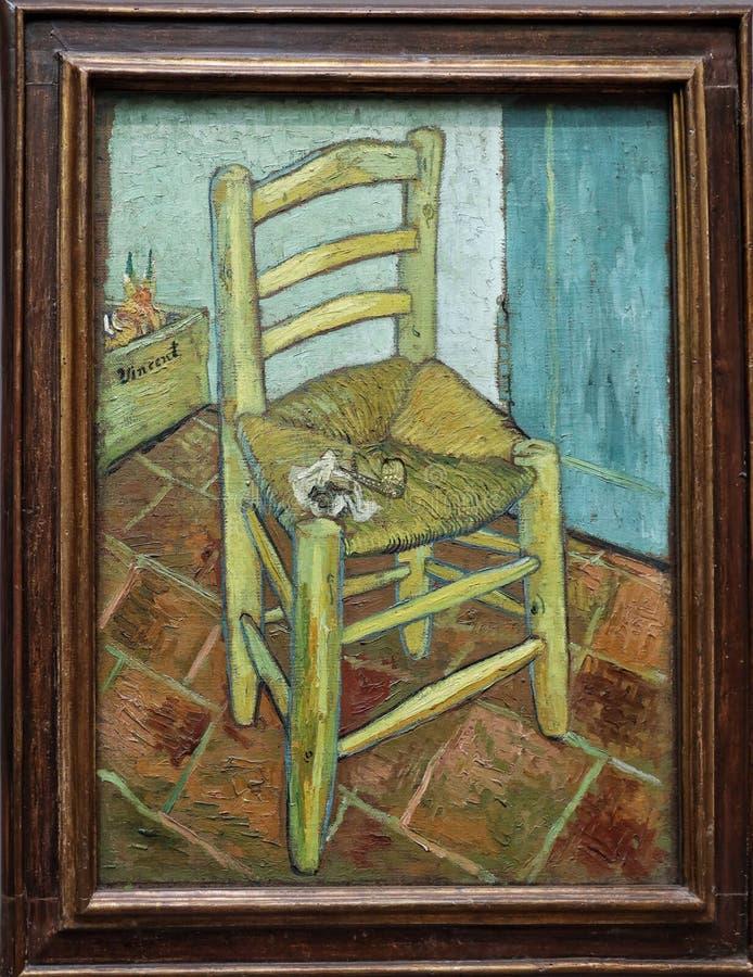 La silla de van Gogh, 1888 imagen de archivo