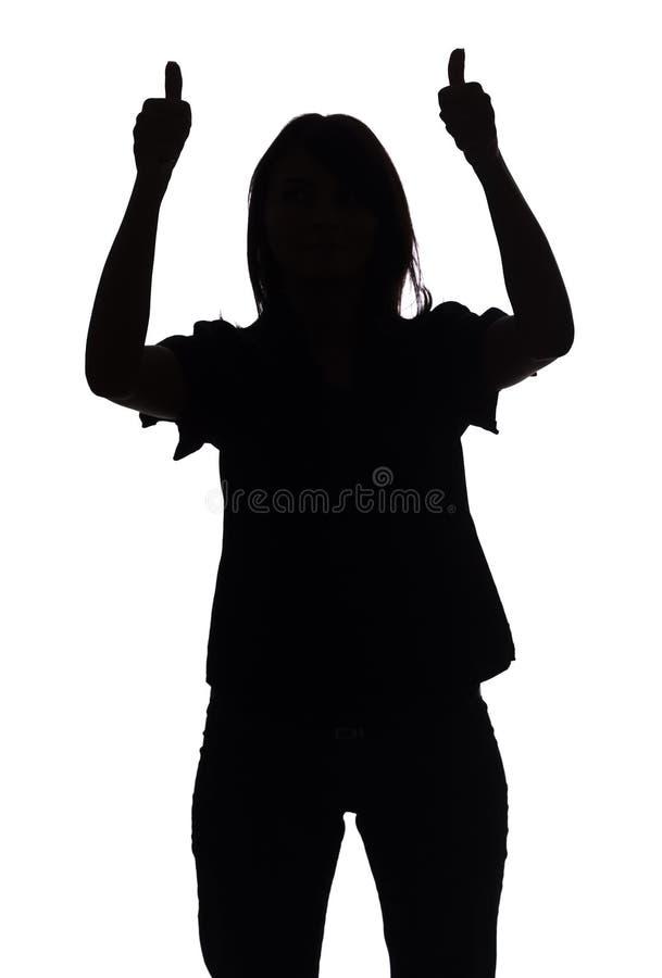 Download La Silueta De La Mujer Muestra OK Foto de archivo - Imagen de carrocería, ejecutivo: 1282584