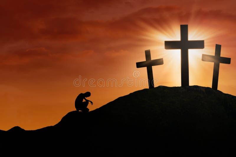 Esperanza de la cruz ilustración del vector