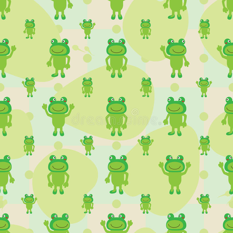 La simetría de la rana de la historieta deja el modelo inconsútil ilustración del vector