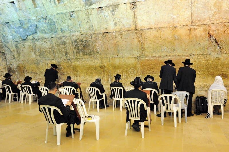 La sinagoga della caverna in parete occidentale di Gerusalemme fotografia stock libera da diritti