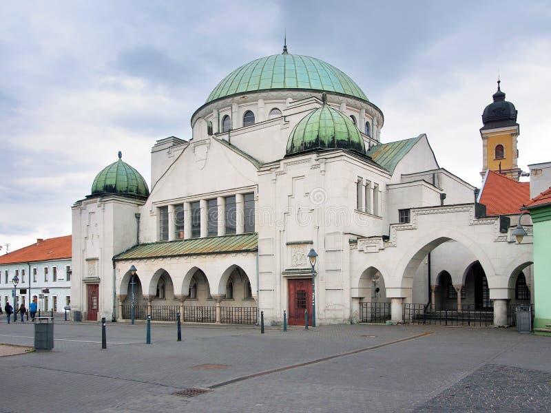 La sinagoga di Trencin, città di Trencin, Slovacchia fotografie stock libere da diritti