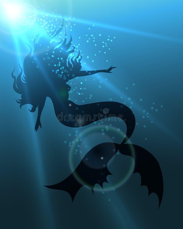 La sirena ilustración del vector