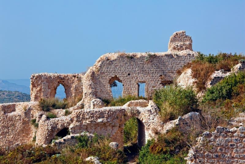 La Siria - castello di Saladin (baccano dell'annuncio di Qala'at Salah) fotografia stock libera da diritti