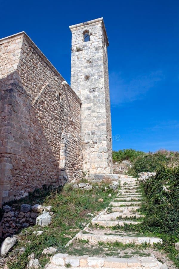 La Siria - castello di Saladin (baccano dell'annuncio di Qala'at Salah) immagine stock libera da diritti