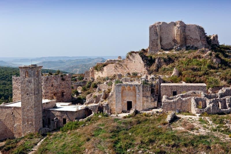 La Siria - castello di Saladin (baccano dell'annuncio di Qala'at Salah) immagini stock