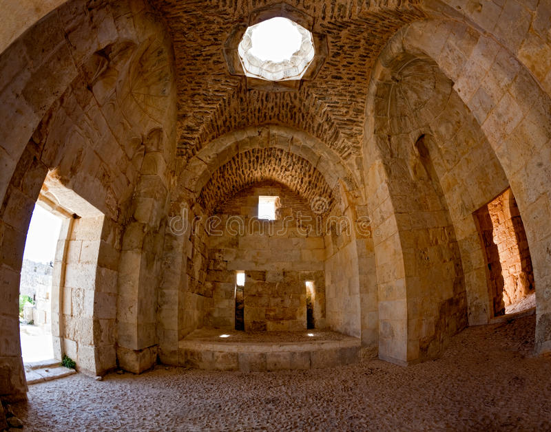 La Siria - castello di Saladin (baccano dell'annuncio di Qala'at Salah) fotografia stock