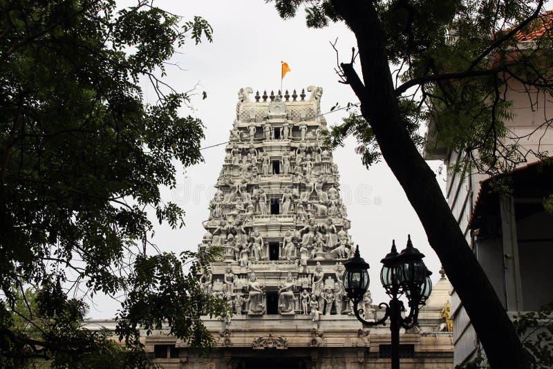 La situazione intorno al tempio indù Sivan Kovil a Colombo fotografie stock