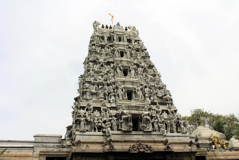La situazione intorno al tempio indù Sivan Kovil a Colombo immagini stock libere da diritti