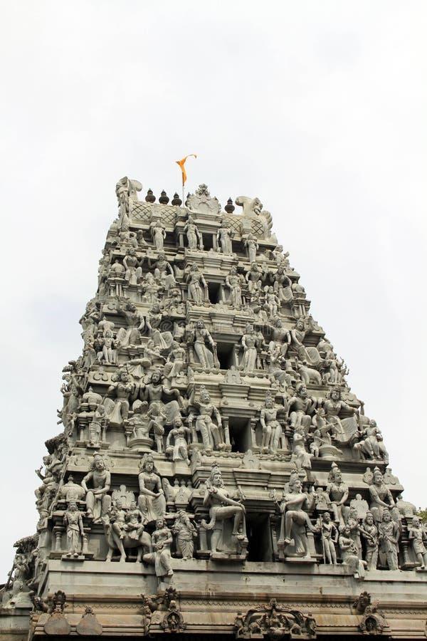 La situazione intorno al tempio indù Sivan Kovil a Colombo fotografia stock