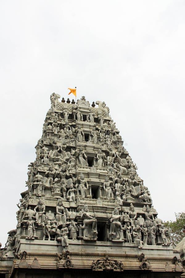La situazione intorno al tempio indù Sivan Kovil a Colombo immagine stock