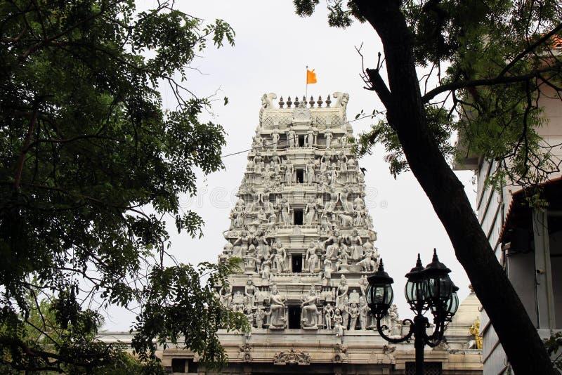 La situazione intorno al tempio indù Sivan Kovil a Colombo immagini stock