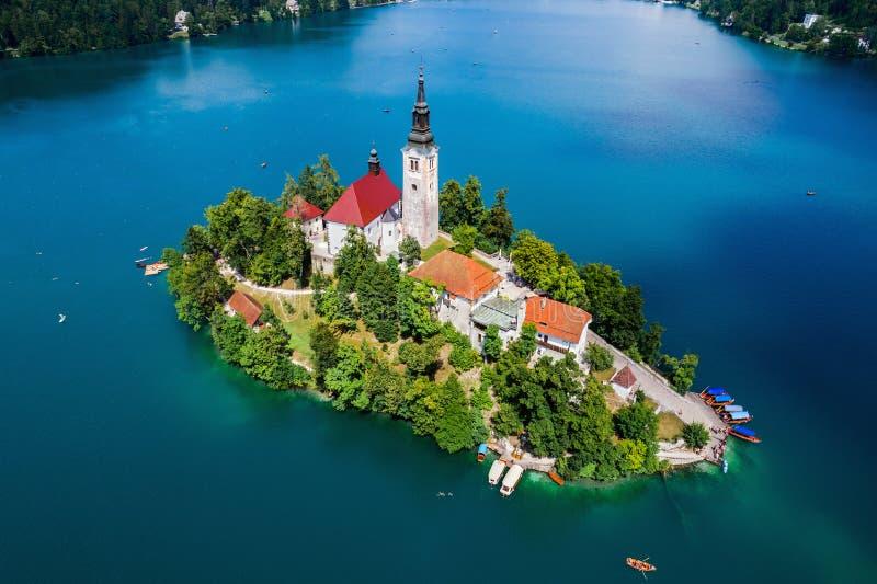 La Slovénie - lac de station de vacances saigné photographie stock libre de droits