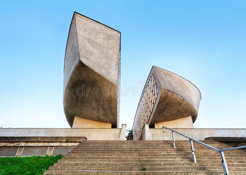 LA SLOVACCHIA, BANSKA BYSTRICA, APRILE 2018 Vista generale del Museu fotografia stock libera da diritti