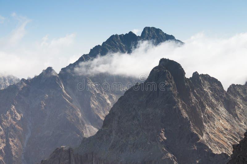 La Slovacchia, montagne di Tatra, picco di Gerlachvsky immagini stock libere da diritti